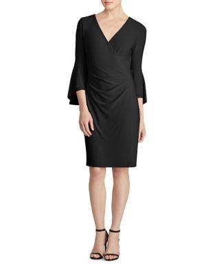 Three-Quarter Sleeve Jersey Dress by Lauren Ralph Lauren