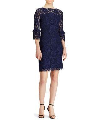 Frayed Lace Sheath Dress by Lauren Ralph Lauren
