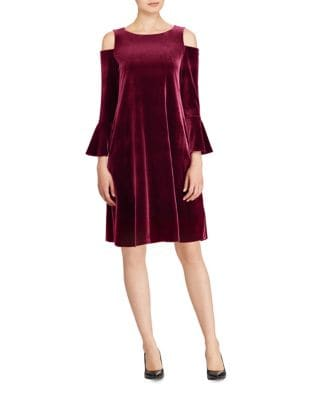 Cold Shoulders A-Line Dress by Lauren Ralph Lauren