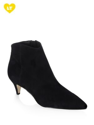 Kinzey Suede Kitten Heel Booties by Sam Edelman