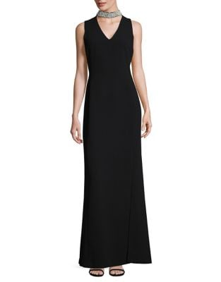 Sleeveless Choker Gown by Karl Lagerfeld Paris