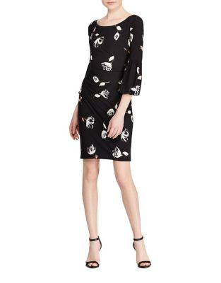 Plus Floral Sheath Dress by Lauren Ralph Lauren
