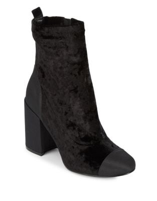 Tache Velvet Cap Toe Booties by Marc Fisher LTD