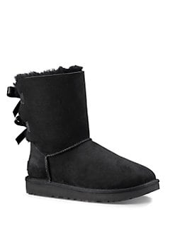 UGG - Bow Design Suede Booties