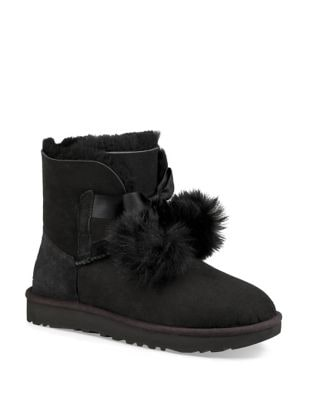 Gita Fur-Trimmed Suede Booties by UGG