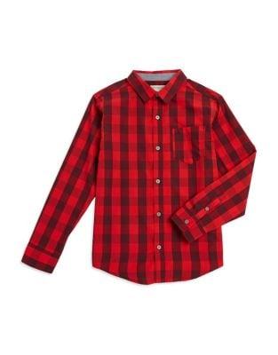 Boys Checkered ButtonDown Shirt
