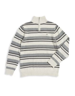 Boys Striped Cotton Sweater