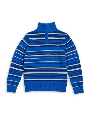 Boy's Cotton Half-Zip...