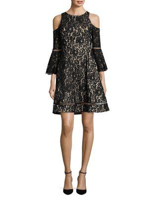 Floral Lace A-Line Dress by Eliza J
