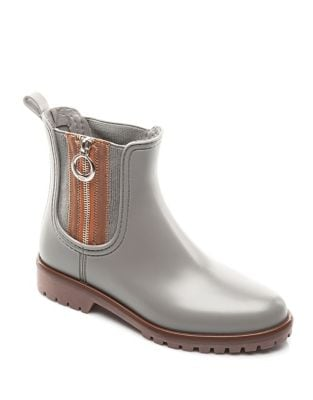Zip Rubber Rain Boots by Bernardo