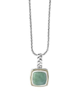 Jade and Sterling Silver...