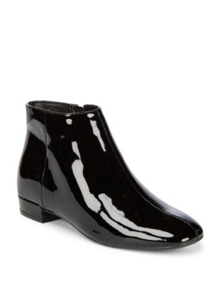 Ilayna Patent Leather Booties by Karl Lagerfeld Paris