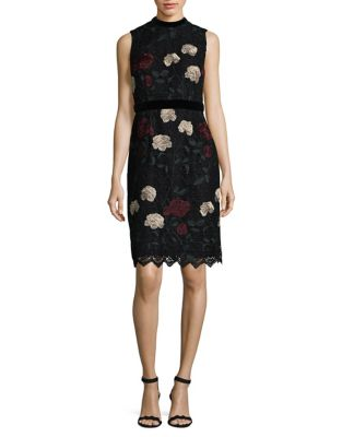 Floral Embroidery Knee-Length Dress by Ivanka Trump