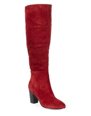 Tulle Tall Suede Boots by Karl Lagerfeld Paris