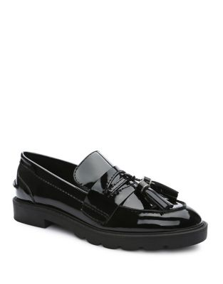 Sugar Patent Leather Tassel Loafers by Tahari