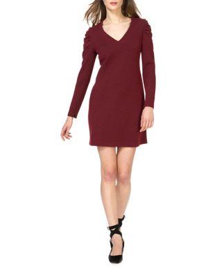Knit V-Neck Shift Dress by Donna Morgan