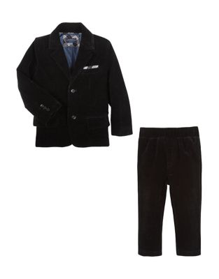 Little Boys TwoPieced Velvet Suit