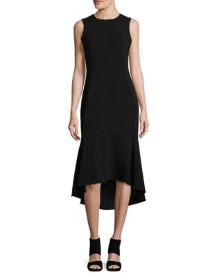 Flared High-Low Dress by Calvin Klein