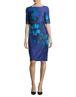 Floral Knee-Length Dress by Ivanka Trump