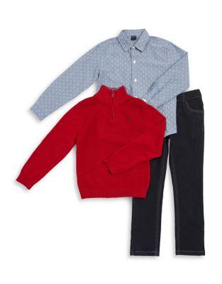 Boy's Three-Piece Sweater,...