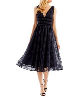 Floral Lace Fit-&-Flare Dress by Nicole Miller New York
