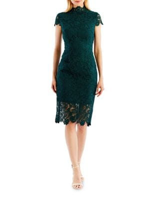 Floral Lace Sheath Dress by Nicole Miller New York