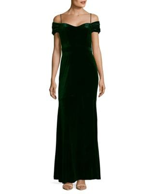 Off-The-Shoulder Trumpet Gown by Nicole Miller New York