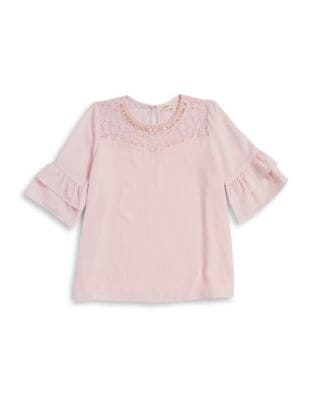 Girls Beaded Front Top