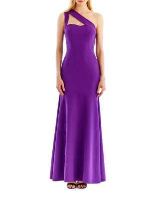 One-Shoulder Trumpet Gown by Nicole Miller New York