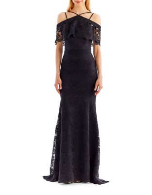 Floral Lace Trumpet Gown by Nicole Miller New York