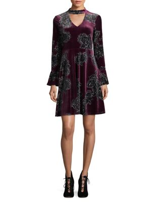 Velvet Paisley Sheath Dress by Ivanka Trump