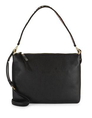 Textured Leather Shoulder Bag 500087534502