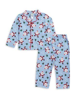 Little Boys TwoPiece Santa Pajama Set