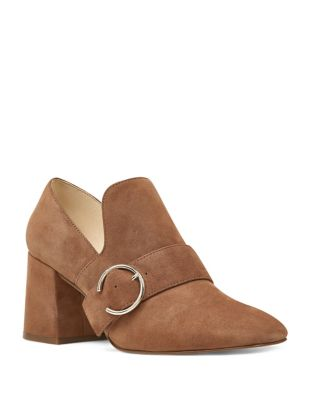 Alberry Block Heel Suede Pumps by Nine West
