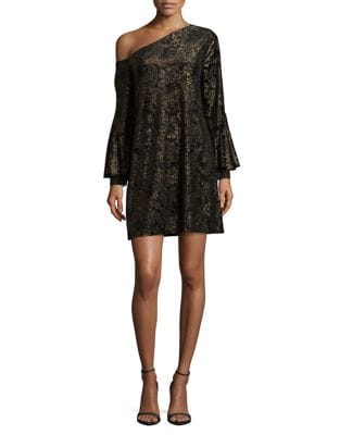 Velvet Asymmetric Shift Dress by Laundry by Shelli Segal