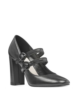 Dabney Leather Mary Jane Pumps by Nine West