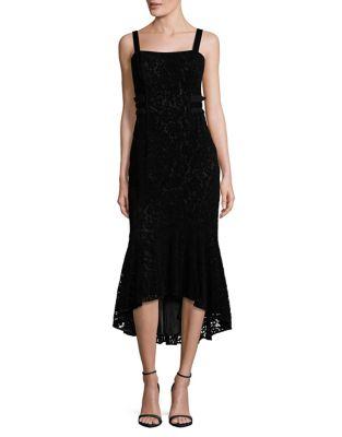 Flocked Velvet Hi-Lo Dress by Laundry by Shelli Segal