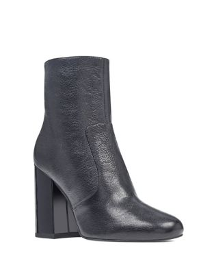 Jilene Block Heel Leather Booties by Nine West
