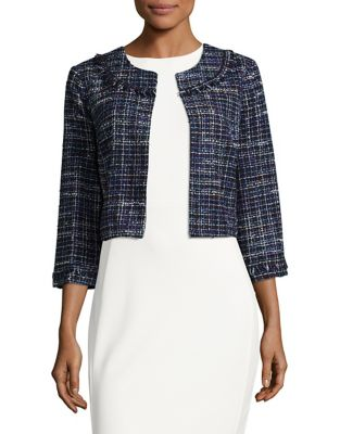 Check Tweed Cardigan by Karl Lagerfeld Paris