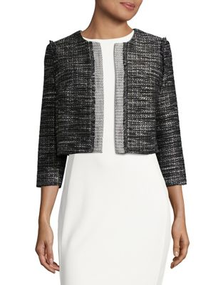 Cropped Tweed Blazer by Karl Lagerfeld Paris