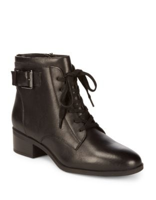 Biagio Leather Bootie by Bandolino