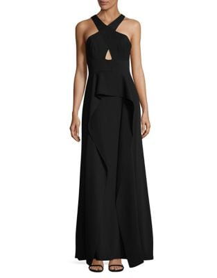 Bryleigh Cross Cutout Gown by BCBGMAXAZRIA