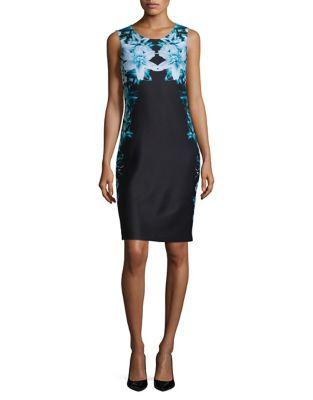 Botanical-Print Sheath Dress 500087541040