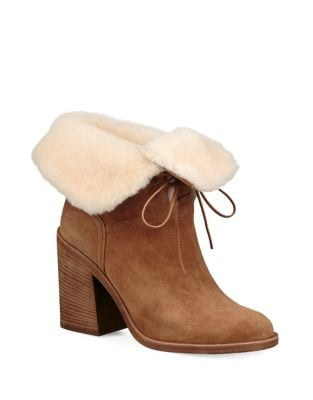Jerene Sheepskin Trim Suede Boots by UGG