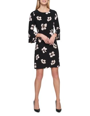 Printed Bell Sleeve Dress by Tommy Hilfiger