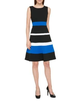 Colorblock Fit-&-Flare Dress by Tommy Hilfiger