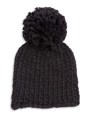 Embroidered Pom Beanie 500087543116