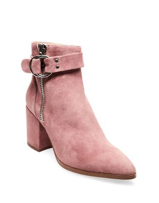 Designed Suede Booties by Steven by Steve Madden