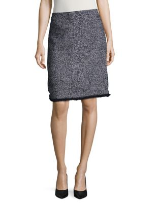 Petite Tweed A-Line Skirt...
