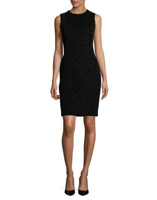 Chic Velvet Sheath Dress by Calvin Klein
